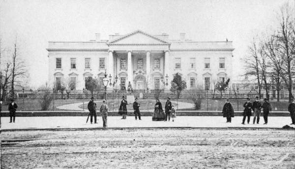 Casa Blanca, fachada norte en 1866