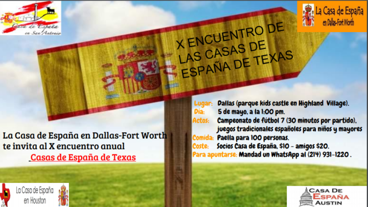 X ENCUENTRO CASAS DE ESPAÑA DE TEXAS